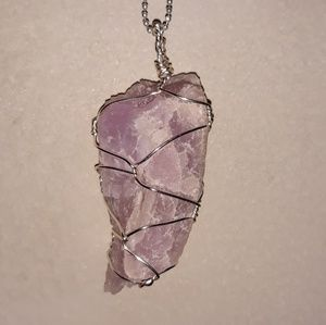 Handmade Wire Wrapped Rough Amethyst Crystal